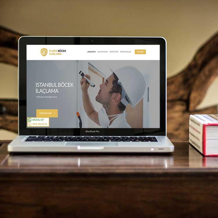 Flora Böcek İlaçlama Web Tasarım Wordpress